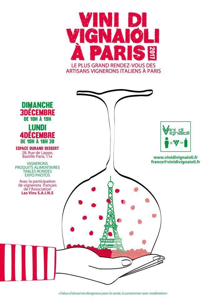 Locandina Vini di Vignaioli Paris 2017